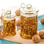 Польза и вред грецких орехов с медом