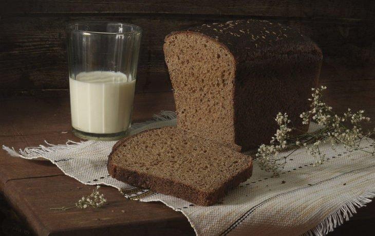 черный хлеб с молоком польза и вред
