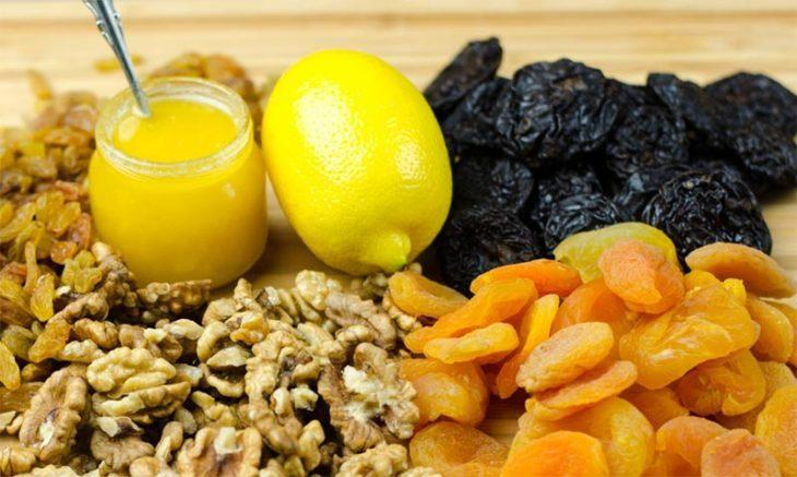 мед орехи и лимон польза