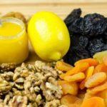 Польза и вред лимона с медом, грецким орехом, курагой