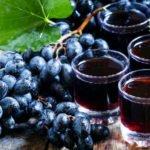 Польза и вред сока из красного, черного, белого винограда