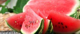 красный арбуз польза и вред
