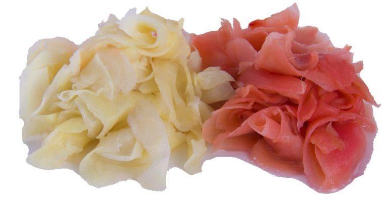 белый и розовый маринованный имбирь в чем разница